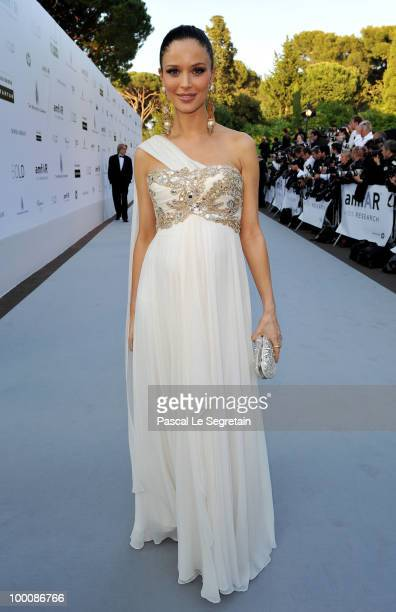 Georgina Chapman arrives at amfAR's Cinema Against AIDS 2010 benefit gala at the Hotel du Cap on May 20 2010 in Antibes France