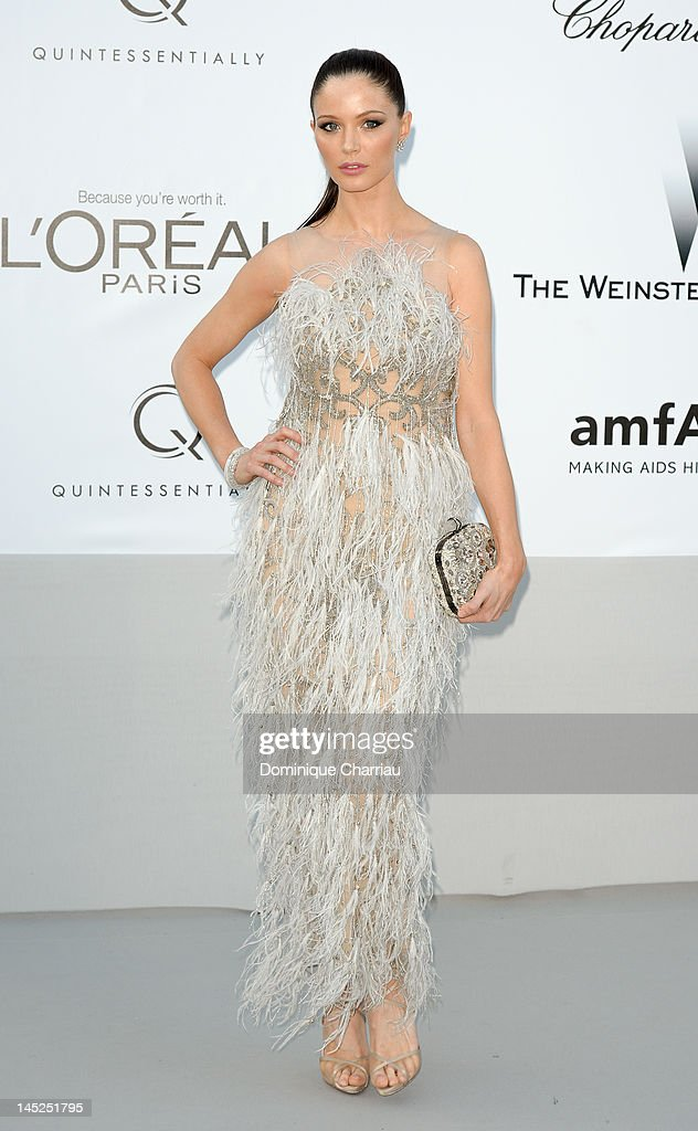 Georgina Chapman arrives at the 2012 amfAR's Cinema Against AIDS during the 65th Annual Cannes Film Festival at Hotel Du Cap on May 24, 2012 in Cap D'Antibes, France.