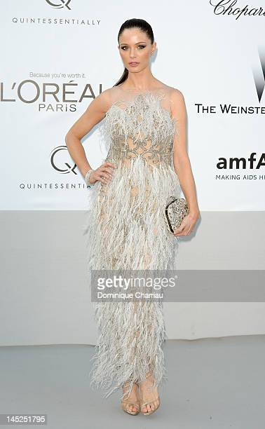 Georgina Chapman arrives at the 2012 amfAR's Cinema Against AIDS during the 65th Annual Cannes Film Festival at Hotel Du Cap on May 24 2012 in Cap...