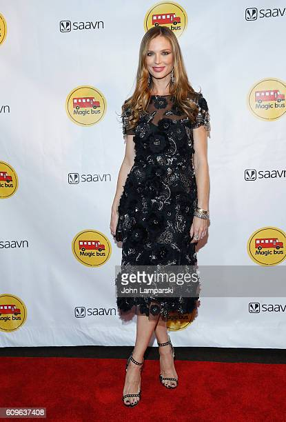 Georgina Chapman attends 2nd Annual Magic Bus Gala at Three Sixty on September 21 2016 in New York City