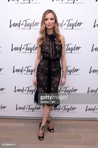 Georgina Chapman attends Lord Taylor x Harper's BAZAAR event on April 26 2017 in New York City