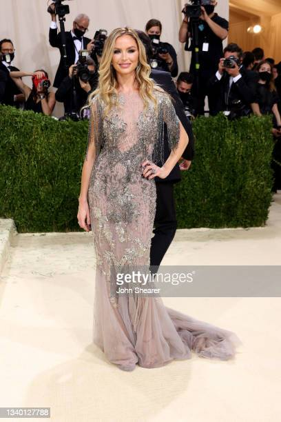 Georgina Chapman attends The 2021 Met Gala Celebrating In America: A Lexicon Of Fashion at Metropolitan Museum of Art on September 13, 2021 in New...
