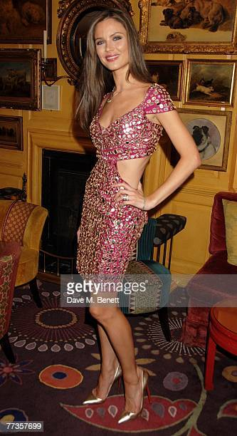 Georgina Chapman attends the launch of Kate Moss's new Top Shop 'Christmas Range' collection at Annabel's October 16 2007 in London England
