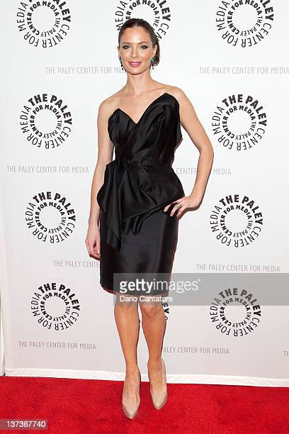 Georgina Chapman attends The Paley Center for Media Presents 'Project Runway All Stars' at The Paley Center for Media on January 19 2012 in New York...