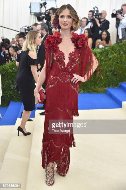 Georgina Chapman attends the 'Rei Kawakubo/Comme des Garcons Art Of The InBetween' Costume Institute Gala at Metropolitan Museum of Art on May 1 2017...