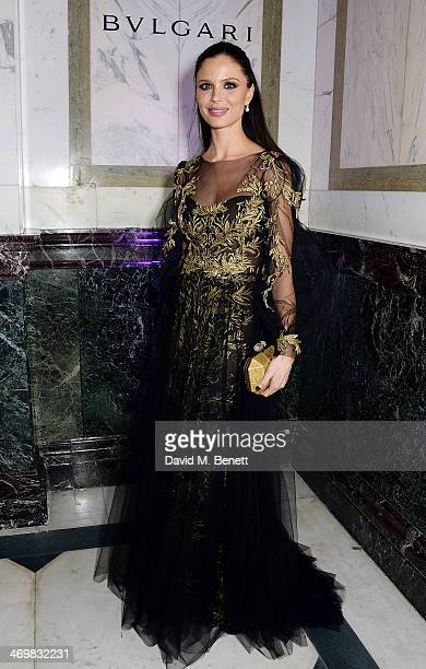 Georgina Chapman attends The Weinstein Co Entertainment and Pathe postBAFTA party hosted by Bulgari and Grey Goose at Rosewood London on February 16...