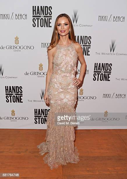 Georgina Chapman attends The Weinstein Company's HANDS OF STONE After Party In Partnership With De Grisogono At Nikki Beach Carlton Beach Club on May...