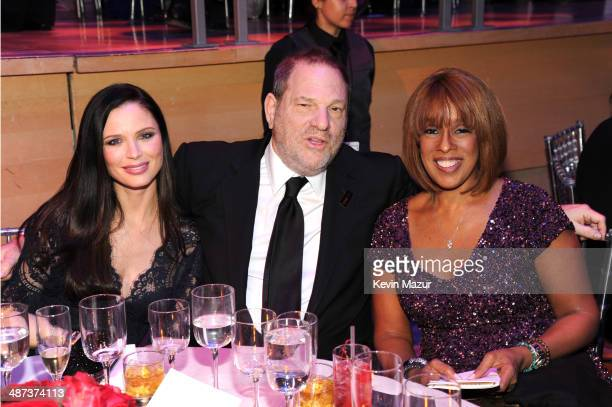 Georgina Chapman Harvey Weinstein and Gayle King attend the TIME 100 Gala TIME's 100 most influential people in the world at Jazz at Lincoln Center...