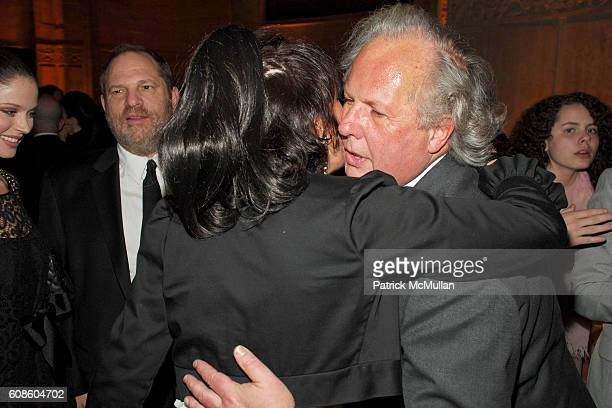 Georgina Chapman Harvey Weinstein Ghislaine Maxwell Graydon Carter and Bronwyn Carter attend The NRDC 9th Annual Benefit honoring VANITY FAIR's...