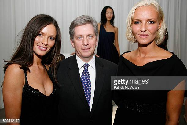 Georgina Chapman Keren Craig and Larry Boland attend PIAGET at MARCHESA Spring 2008 Presentation at Chelsea Art Museum on September 5 2007 in New York