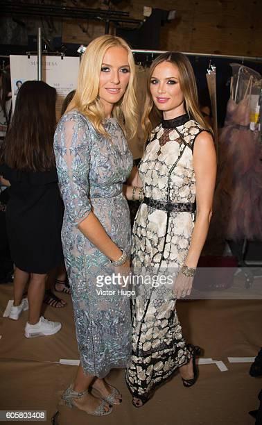 Georgina Chapman, Keren Craig Marchesa - Backstage - September 2016 - New York Fashion Week: The Shows at The Dock, Skylight at Moynihan Station on...
