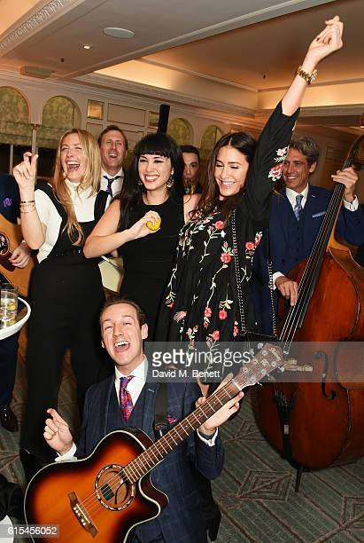 Georgina Cohen Melissa Hemsley and Lisa Snowdon dance to the band at the launch of 'Fortnum Mason The Cook Book' by Tom Parker Bowles at Fortnum...