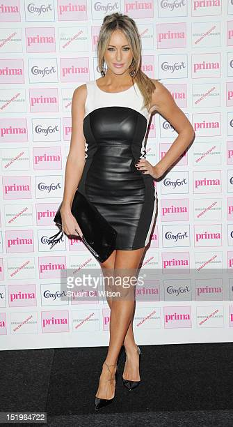 Georgina Dorsett attends the Comfort Prima High Street Fashion Awards at Battersea Evolution on September 13 2012 in London England