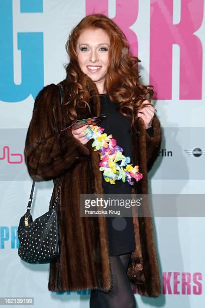 Georgina Fleur attends the German premiere of 'Spring Breakers' at the cinestar Potsdamer Platz on February 19 2013 in Berlin Germany