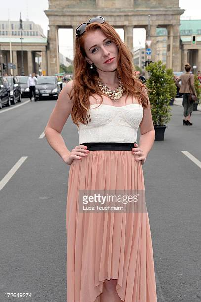 Georgina Fleur attends the Holy Ghost Show during the MercedesBenz Fashion Week Spring/Summer 2014 at Brandenburg Gate on July 4 2013 in Berlin...