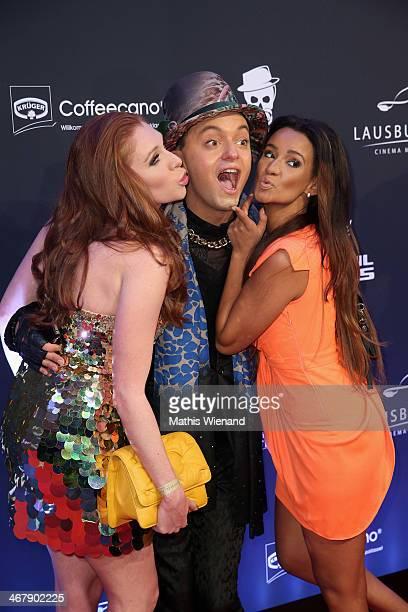 Georgina Fleur Julian Stoeckel and Gabriella De Almeida Rinne attend the LB Film Celebrates 10th Anniversary at Hotel Intercontinental on February 8...