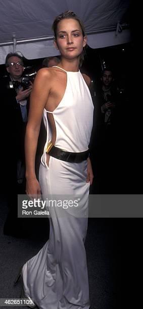 Georgina Grenville attends Metropolitan Museum of Art Costume Institute Gala Honoring Christian Dior on December 9 1996 at the Metropolitan Museum of...