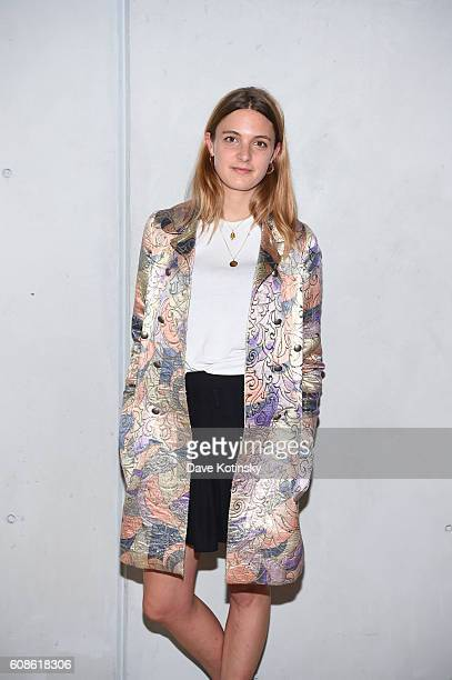 "Georgina Harding attends the Daniel Arsham ""Colorblind Artist: In Full Color"" at Spring Place on September 19, 2016 in New York City."