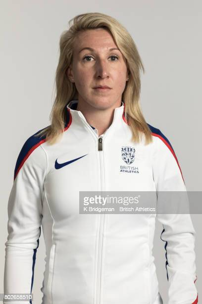 Georgina Hermitage of Great Britain poses for a portrait during the British Athletics World Para Athletics Championships Squad Photo call on June 25...