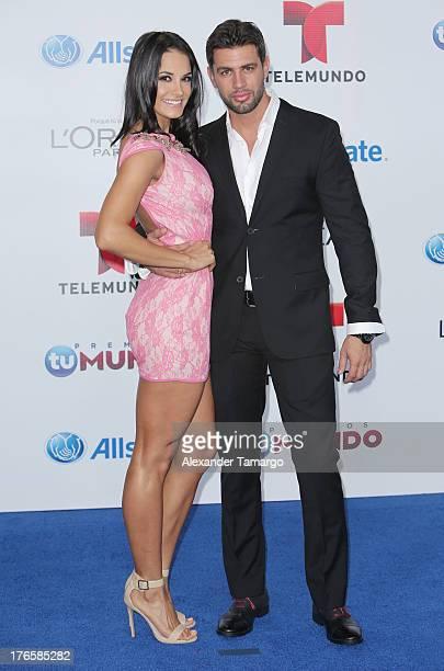 Georgina Holguin and Christian de la Campa attend Telemundo's Premios Tu Mundo Awards at American Airlines Arena on August 15 2013 in Miami Florida