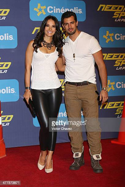 Georgina Holguin and Christian de la Campa attend the Need For Speed Mexico City premiere red carpet at Cinepolis Patio Santa Fe on March 8 2014 in...
