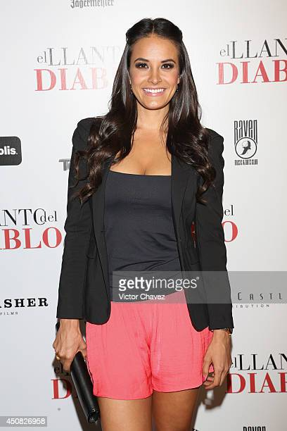 Georgina Holguin attends Nothing Left to Fear Mexico City premiere black carpet at Cinepolis Diana on June 17 2014 in Mexico City Mexico