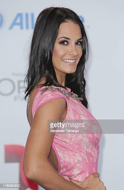 Georgina Holguin attends Telemundo's Premios Tu Mundo Awards at American Airlines Arena on August 15 2013 in Miami Florida