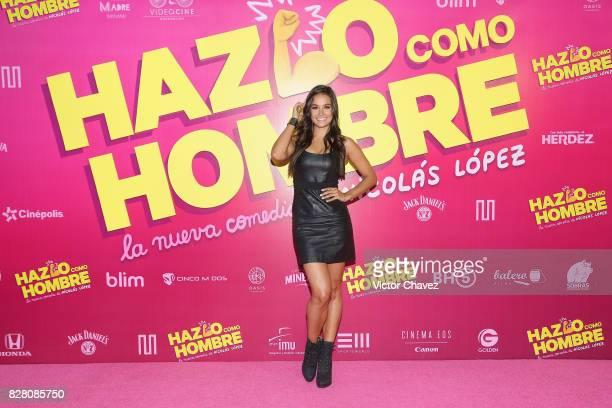 Georgina Holguin attends the Hazlo Como Hombre Mexico City premiere at Cinepolis Oasis Coyoacan on August 8 2017 in Mexico City Mexico