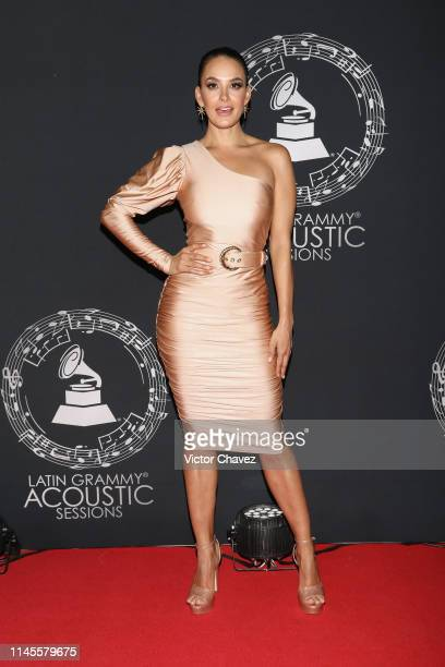 Georgina Holguin attends the Latin Grammy Acoustic Session Mexico at Soumaya museum on May 22 2019 in Mexico City Mexico