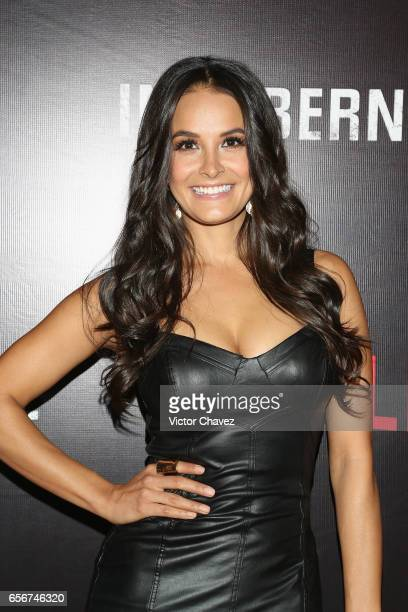 Georgina Holguin attends the launch of Netflix's series Ingobernable red carpet at Auditorio BlackBerry on March 22 2017 in Mexico City Mexico