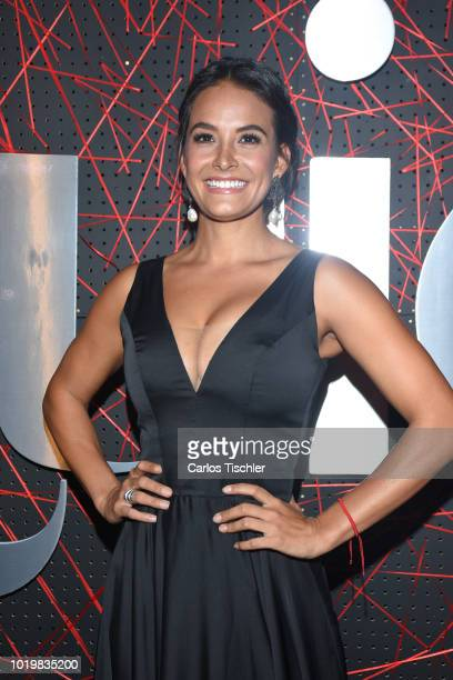 Georgina Holguin poses for photos during the red carpet for 'Quien' magazine's 18th anniversary at Foro Masaryk on August 15 2018 in Mexico City...