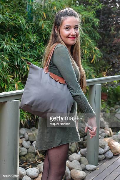 Georgina is wearing a Susenstone green dress Longchamp handbag Fashion Pills shoes Tezenis panties Maria Pascual arrow detail jewelry Fol Pop Corn...