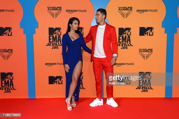 Georgina Rodriguez and Cristiano Ronaldo attend the MTV EMAs 2019 at FIBES Conference and Exhibition Centre on November 03, 2019 in Seville, Spain.