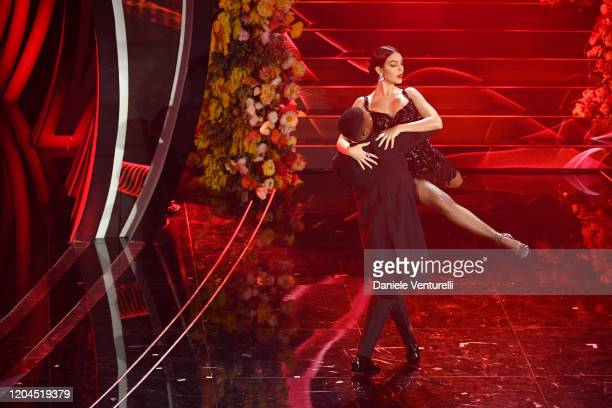 Georgina Rodriguez attends the 70° Festival di Sanremo at Teatro Ariston on February 06 2020 in Sanremo Italy