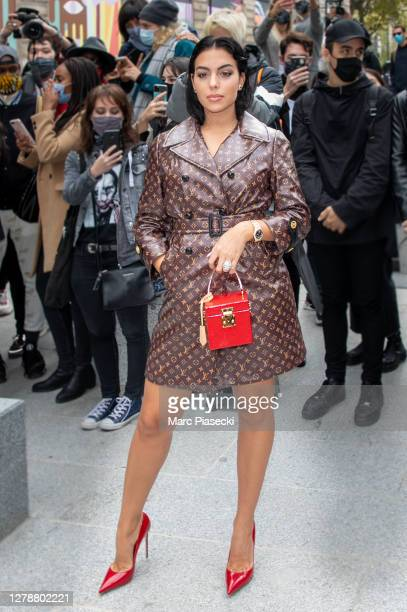 Georgina Rodriguez attends the Louis Vuitton Womenswear Spring/Summer 2021 show as part of Paris Fashion Week on October 06, 2020 in Paris, France.