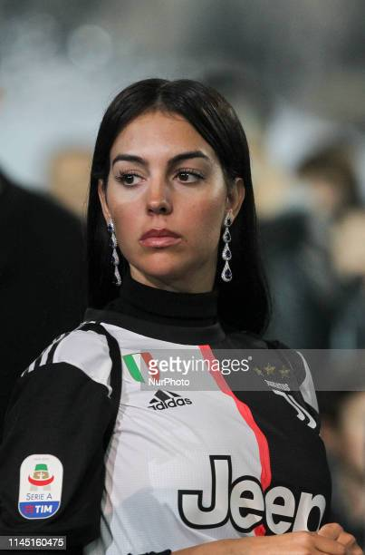 Georgina Rodriguez during the victory ceremony following the Italian Serie A last football match of the season Juventus versus Atalanta on May 19...