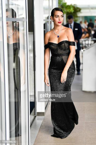 Georgina Rodriguez is seen during the 72nd annual Cannes Film Festival at on May 21 2019 in Cannes France