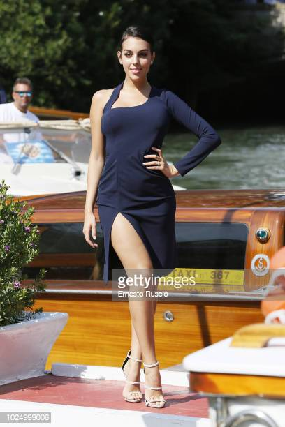 Georgina Rodriguez is seen during the 75th Venice Film Festival on August 29 2018 in Venice Italy