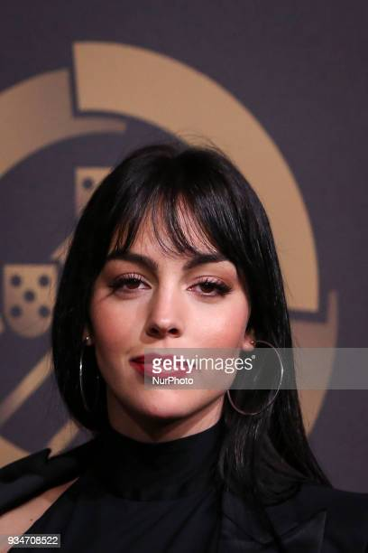 Georgina Rodriguez pose on arrival at quotQuinas de Ouroquot ceremony held at Pavilhao Carlos Lopes in Lisbon on March 19 2018 NURPHOTO