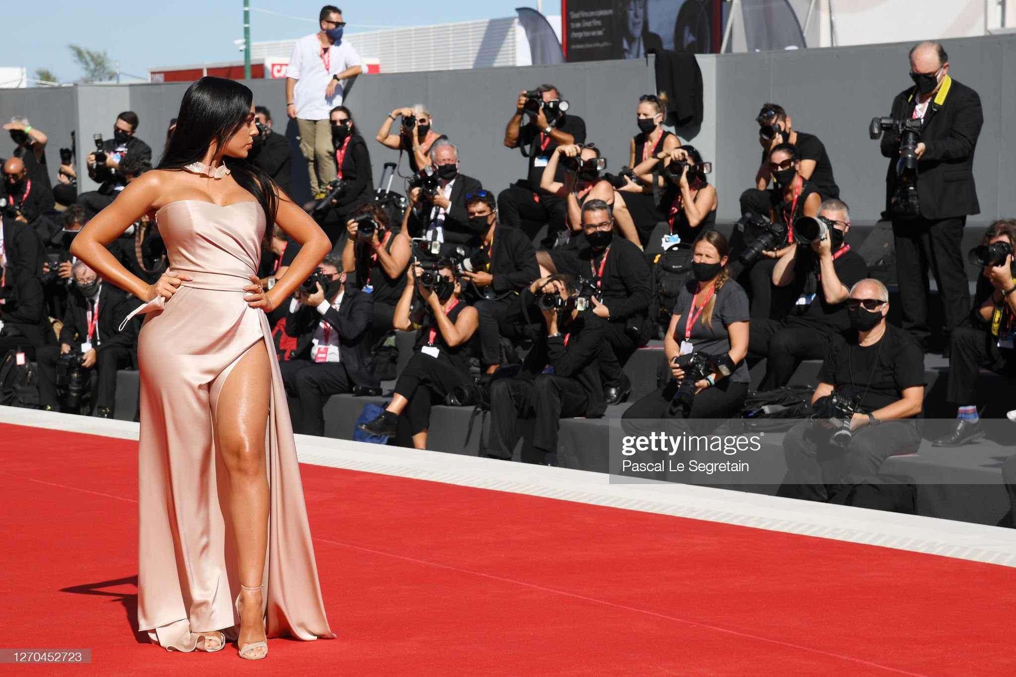 """""""The Human Voice"""" and """"Quo Vadis, Aida?"""" Red Carpet - The 77th Venice Film Festival : News Photo"""