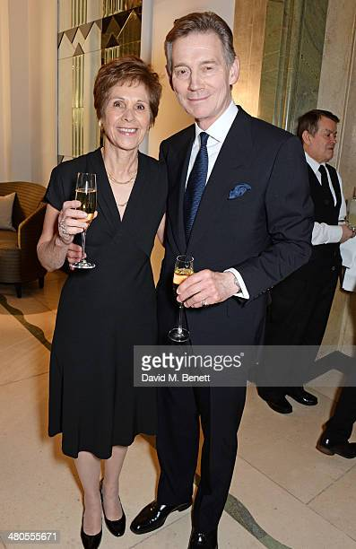 Georgina Simpson and Anthony Andrews attend a private dinner hosted by Spear's for The Mayo Clinic at Claridge's Hotel on March 25 2014 in London...