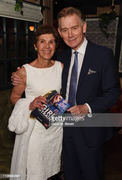 Georgina Simpson and Anthony Andrews attend the press night after party for The Girl On The Train at Mr Fogg's Society of Exploration on July 30 2019...