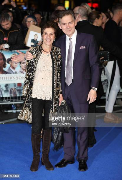 Georgina Simpson and Anthony Andrews attend the World Premiere of 'Another Mother's Son' on March 16 2017 at Odeon Leicester Sqaure in London England