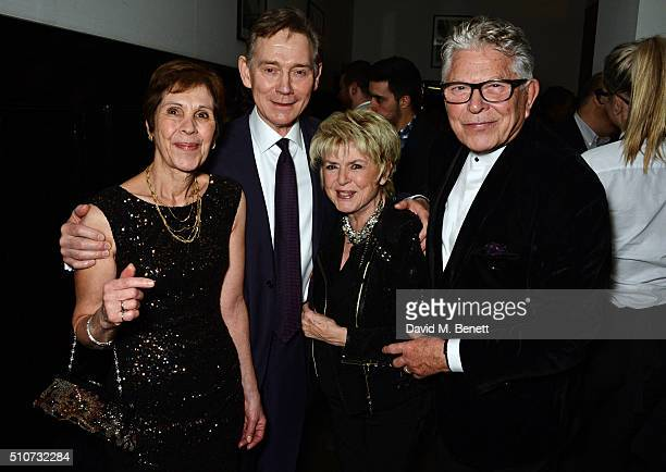 Georgina Simpson Anthony Andrews Gloria Hunniford and Stephen Way attend the press night after party for Mrs Henderson Presents at The National Cafe...