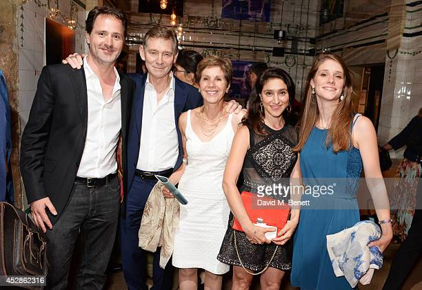 Georgina Simpson Joshua Andrews Anthony Andrews Jessica Andrews and AmySamantha Andrews attend an after party following the press night performance...