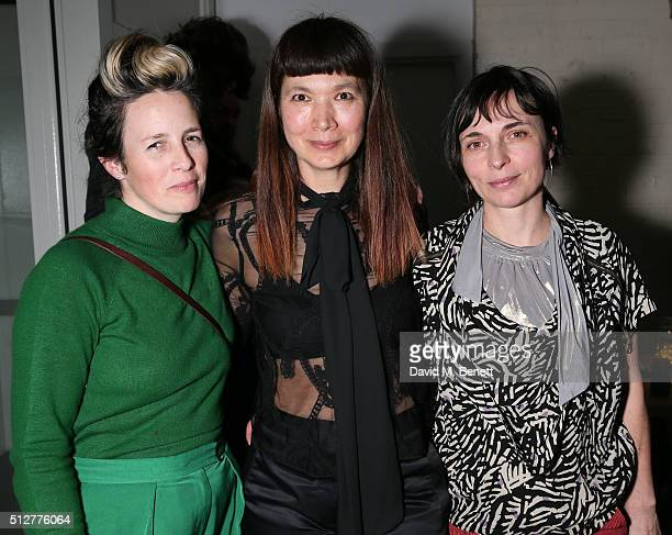 Georgina Starr Deborah Rigby and Saskia Olde Wolbers attend the Medecins Sans Frontieres art and music fundraising event on February 27 2016 in...