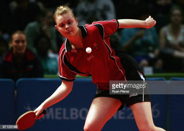Georgina Walker of England is seen in action during her Women's Team match against Cecilia Offiong of Nigeria at the Melbourne Sports Aquatic Centre...