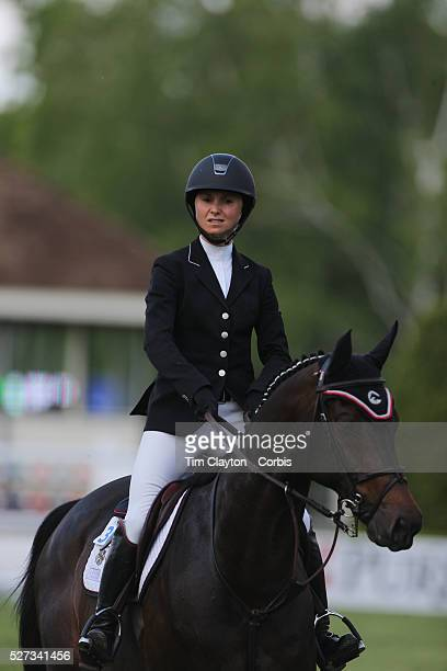 Georgine Bloomberg riding Caleno 3 in action during the $100000 Empire State Grand Prix presented by the Kincade Group during the Old Salem Farm...