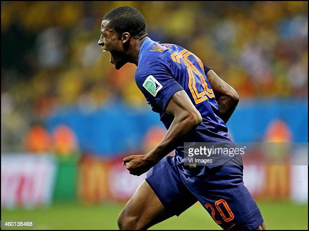 Georginio Wijnaldum during the World Cup 2014 playoff match for third place between Netherlands and Brazil on July 12 2014 at Estadio Nacional in...