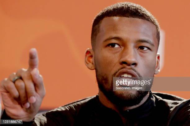 Georginio Wijnaldum of Holland during the Press Conference Holland at the KNVB Campus on March 23, 2021 in Zeist Netherlands